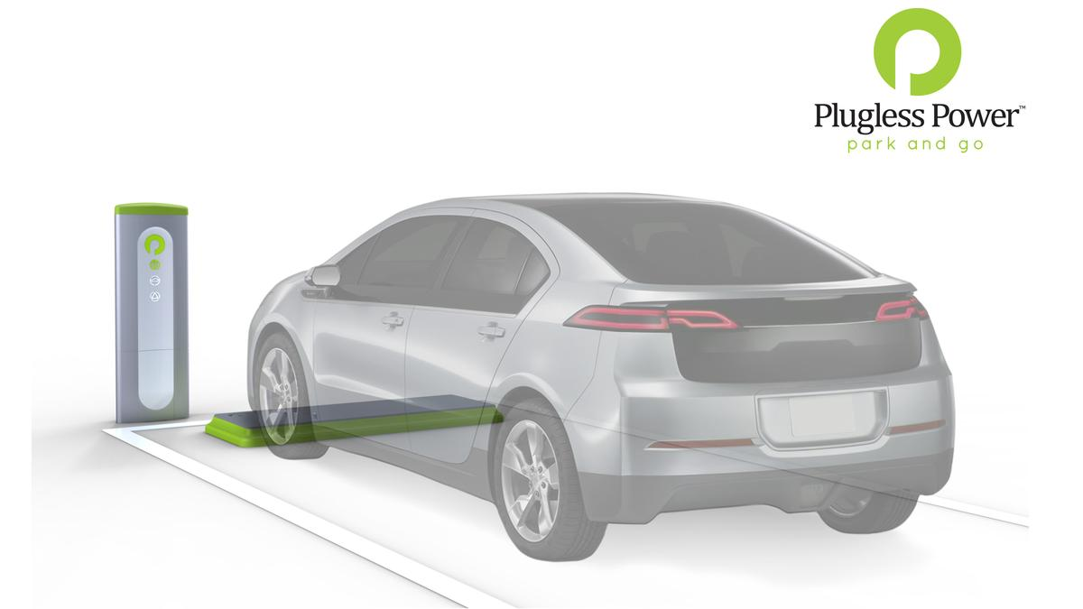 Evatran has revealed a plug-free solution to EV charging, its Plugless Power induction charging system