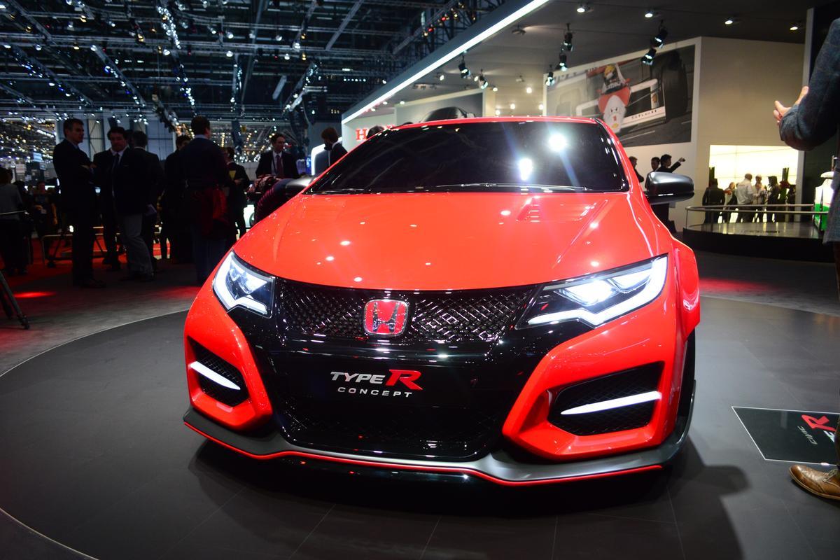 The Honda Civic Type R Concept at the Geneva Motor Show