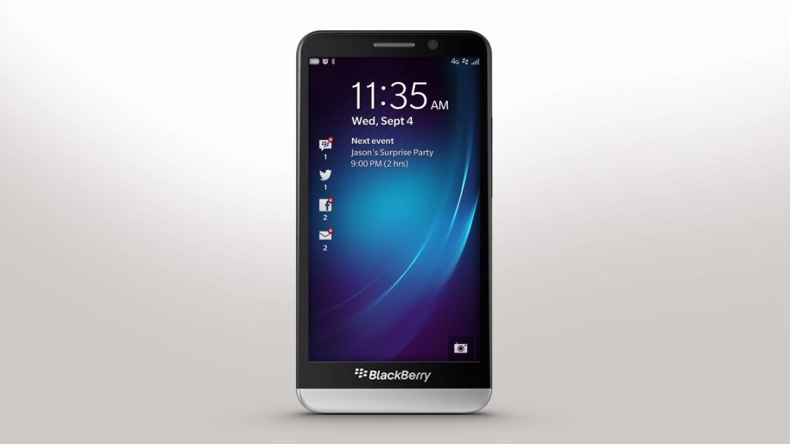 BlackBerry's latest smartphone - the Z30