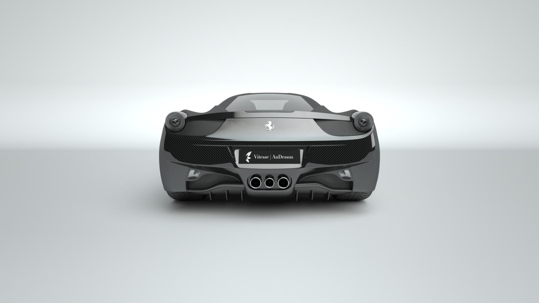 Vitesse AuDessus' carbon fiber treatment seen on a Ferrari 458 Italia