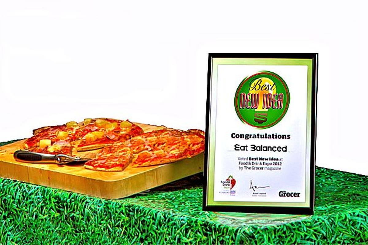 "Eat Balanced nutritionally balanced pizzas won the 2012 ""Best New Idea"" award at the 2012 UK Food and Drink Expo"