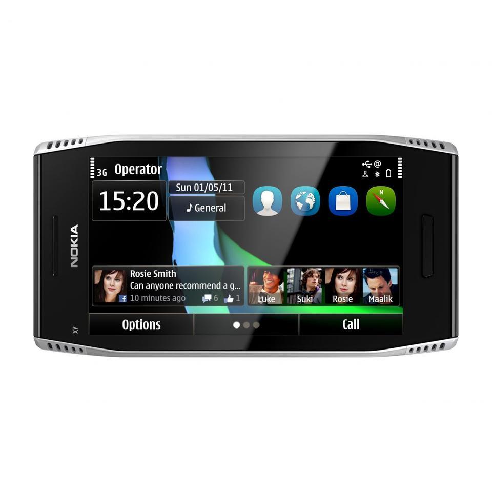 Nokia X7: 4 inch AMOLED touchscreen
