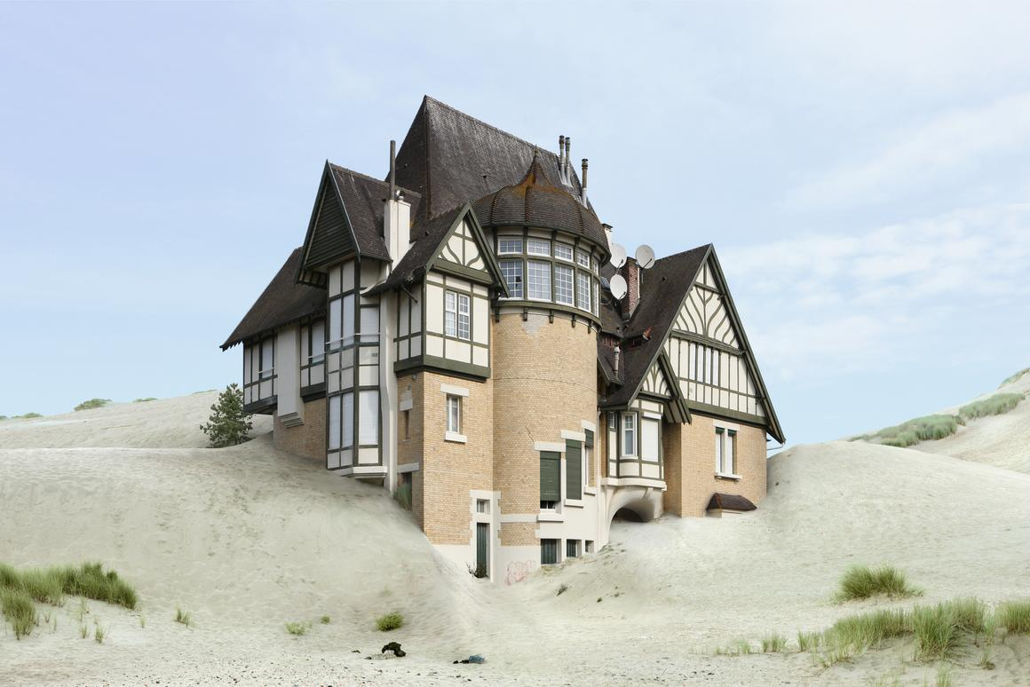 Though Dujardin's photographs provide the building blocks for his work, the end result are fantastical, Photoshopped constructions depicting nonsensical or even impossible architecture (Filip Dujardin/Highlight Gallery)