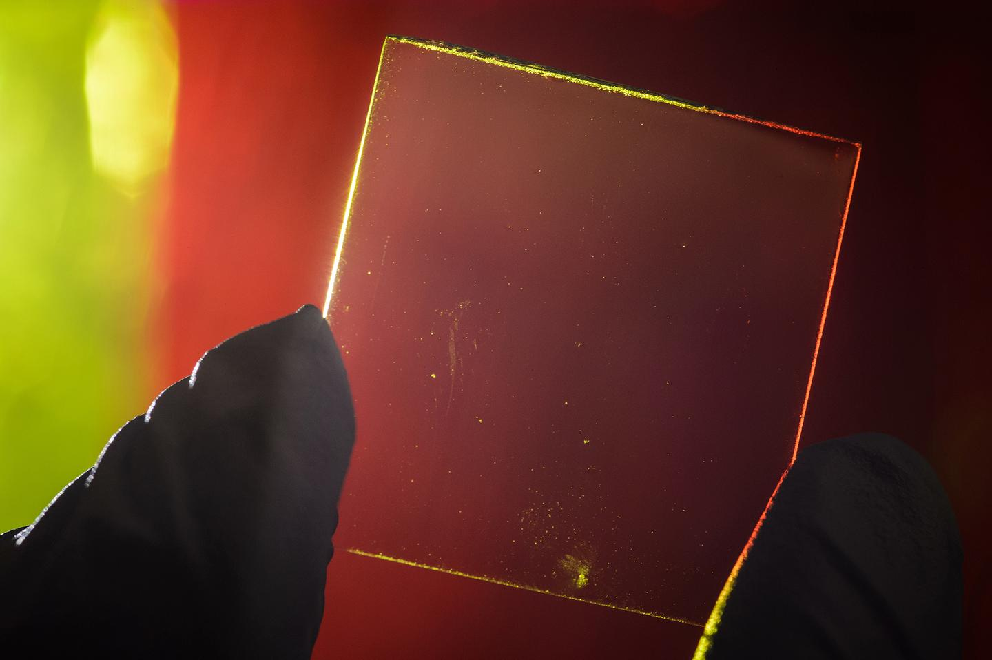 The transparent solar collectors developed by the MSU team use microscopic organic molecules