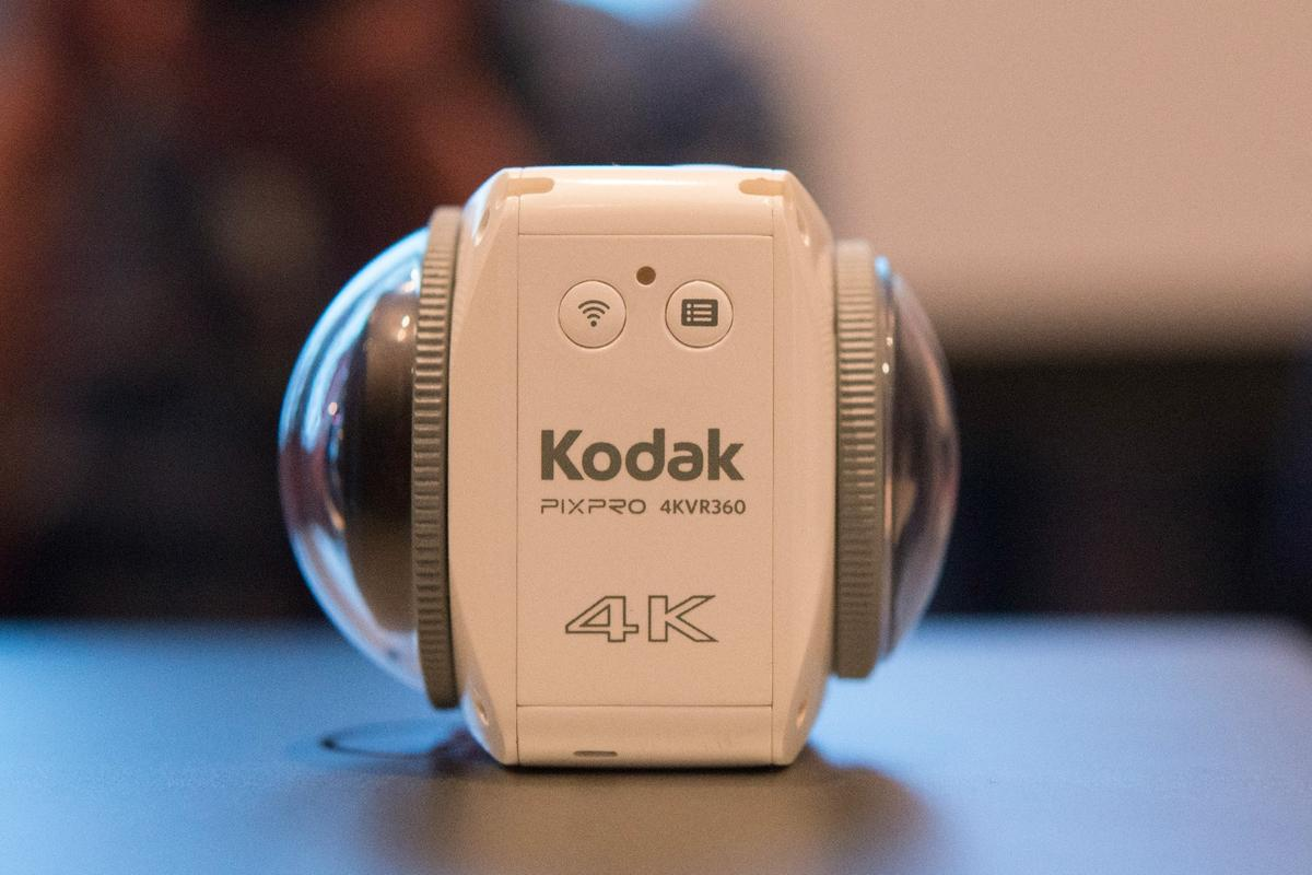 The Kodak PixPro4KVR360 had different lenses front and back