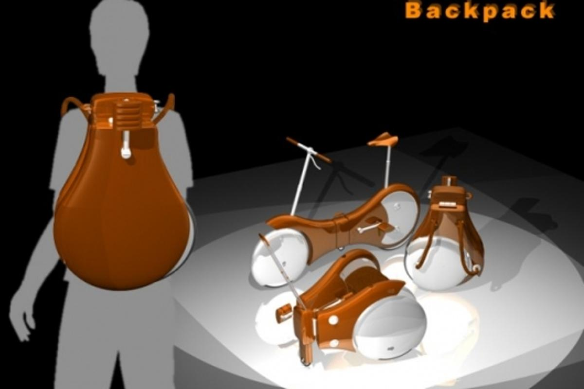 The foldable bicycle backpack