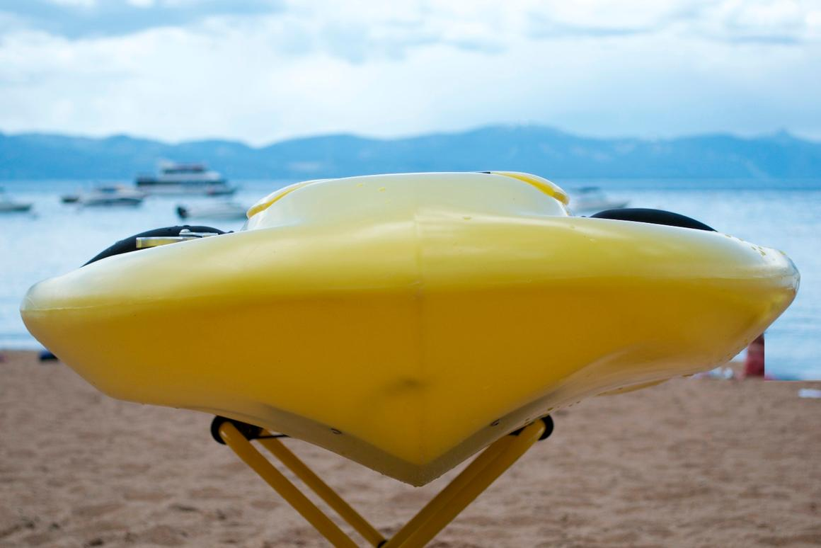 """The sleek profile of the first """"near production"""" Kymera body board"""
