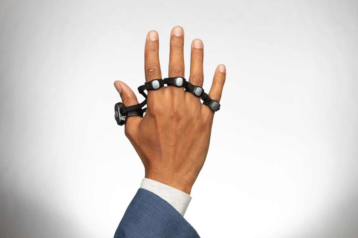 It's not a knuckle-duster, this is the Tap Strap 2 wearable keyboard and mouse