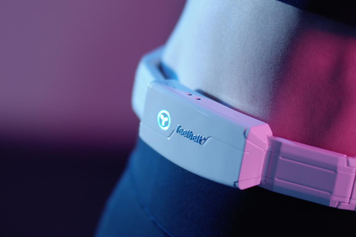 The Feelbelt is currently on Kickstarter, with Super Early Bird Pledges starting at €199 (US$215)