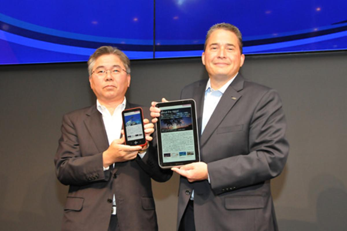 Sharp's e-reader prototypes sport 5.5-inch and 10.8-inch color LCD touchscreens