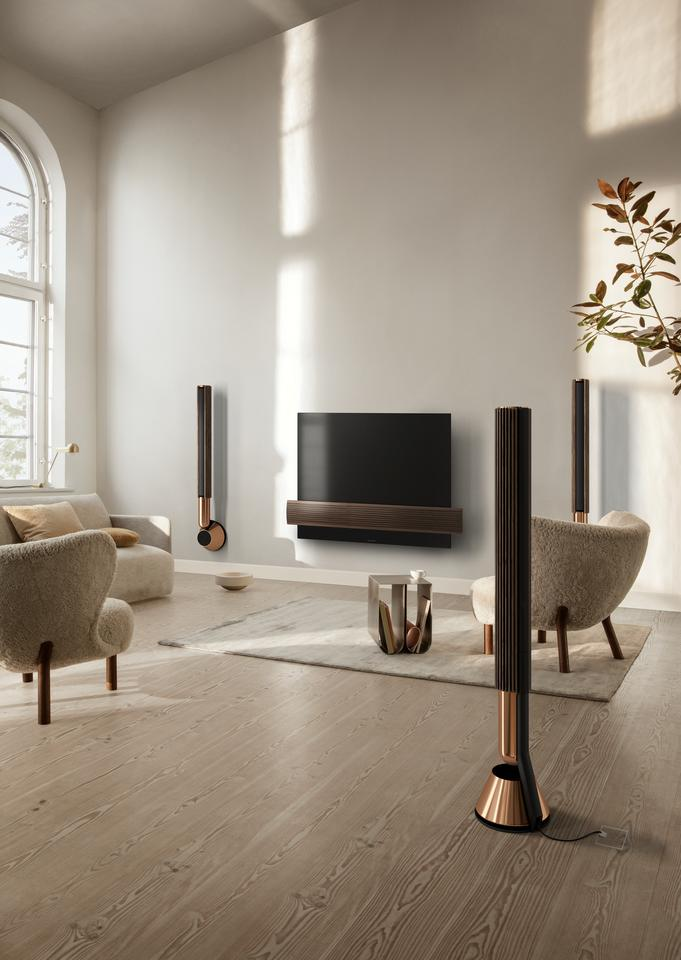 B&O says that the Beolab 28 speakers will adapt the output to cater for room size, shape and placement