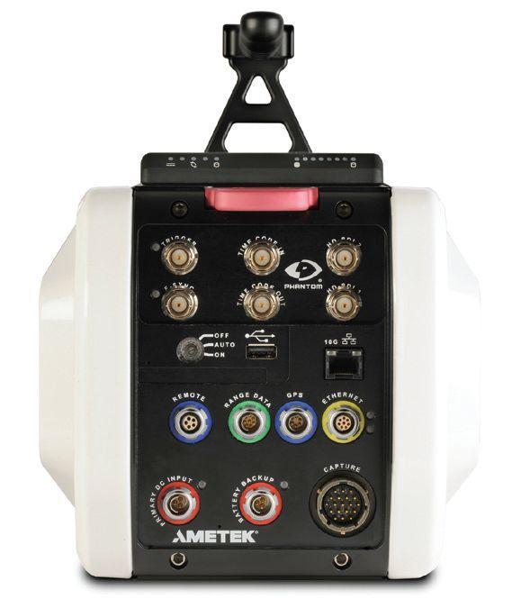 Vision Research's Phantom v1610 high-speed digital camera, back panel view