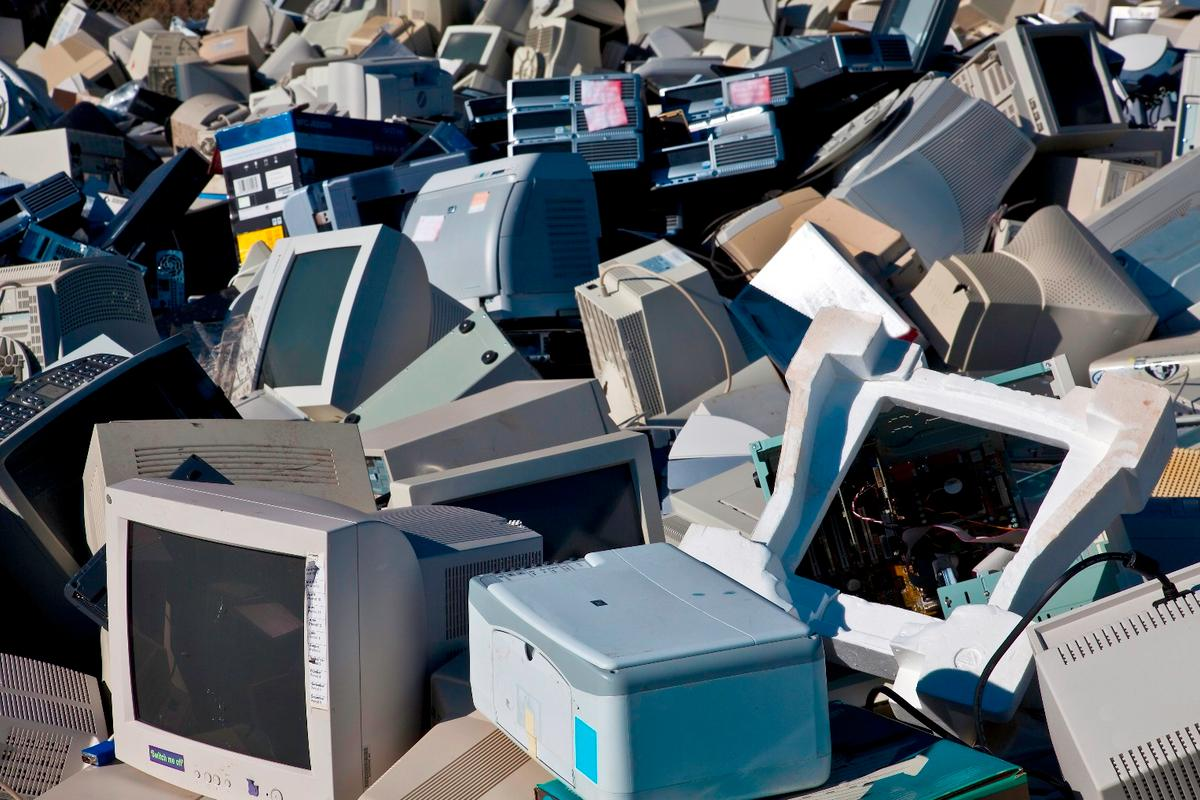 A new solution to the e-waste problem could be freezing and grinding up the electronics into a powder, so the metals and components can be reclaimed