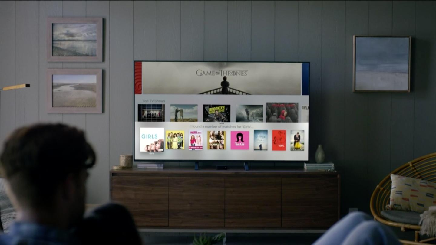 Central to the new Apple TV setup is the brand new remote, which features a selection of physical buttons for key controls like volume, pause and play, alongside a touch panel for precision navigation