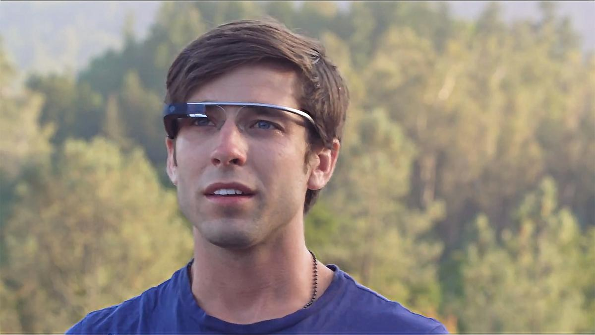 The big tradeoff of Google Glass is that you have to look like this