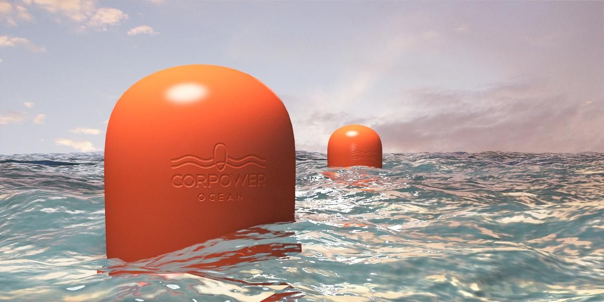 CorPower Ocean's wave power-harnessing buoys utilize a geared drivetrain instead of hydraulics (Image: CorPower Ocean)
