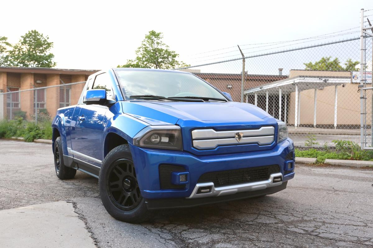 Bison exterior, designed by Darren McKeage, sports a bold aggressive stance