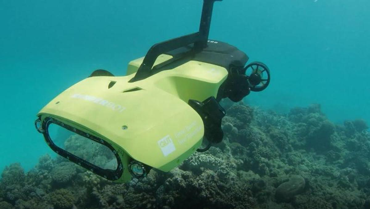 The RangerBot can monitor and protect reefs for up to eight hours at atime