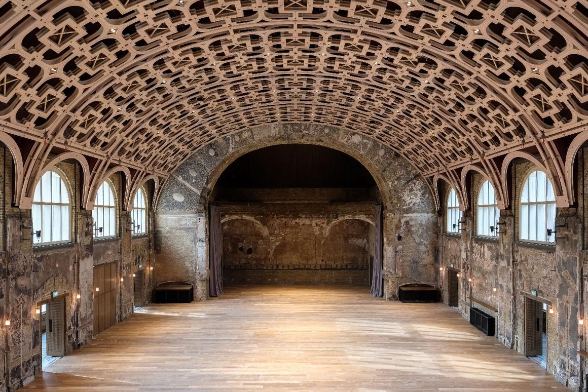 TheBattersea Arts Centre's regenerationwas designed byHaworth Tompkins.The project isthe culmination of a 12-year restoration project
