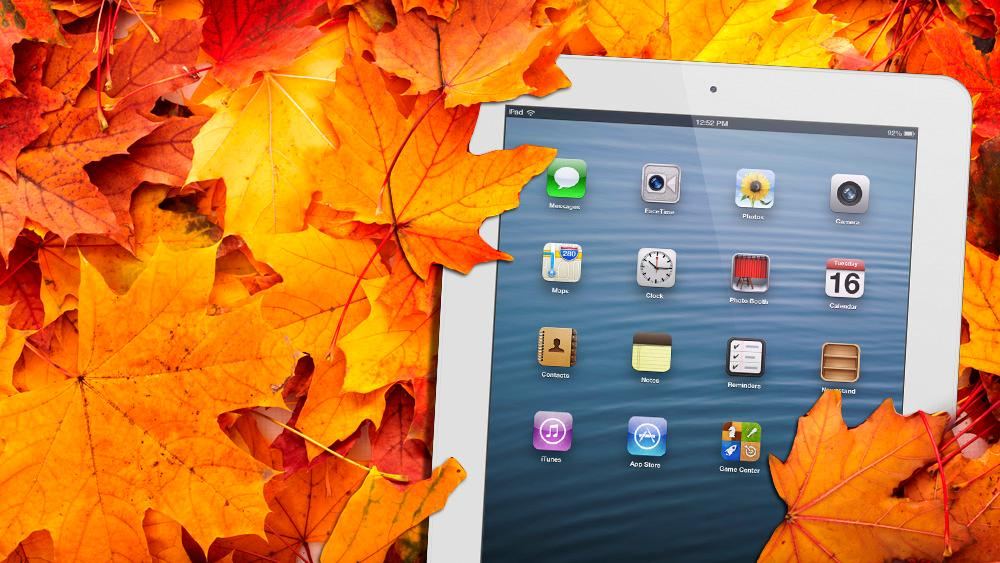 Apple may have been smart to surprise us with a new iPad in October (Leaves: Shutterstock)