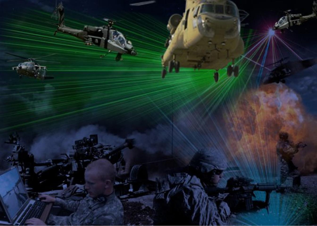 Artist's impression of the live synthetic simulation system (image: US Army/Peggy Frierson)