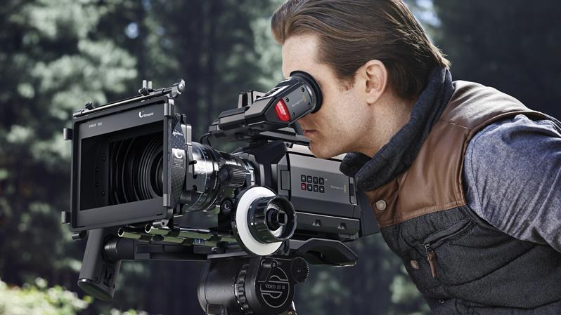 The Blackmagic URSA Mini is a compact Super 35 digital film camera designed for solo or crew use