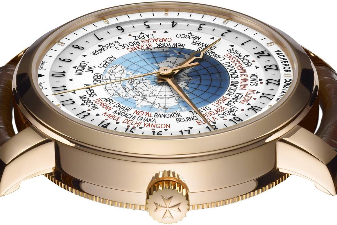 Vacheron Constantin's Patrimony Traditionnelle World Time model tells the time in all the world's 37 time zones