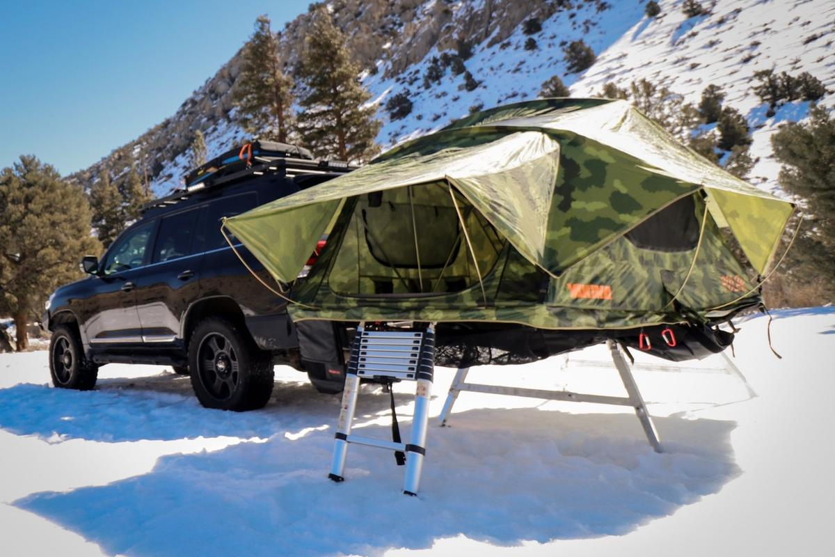 Built sturdy for overland expedition use, the Rubicon Hitch Tent puts your two- or three-person roof tent on the hitch
