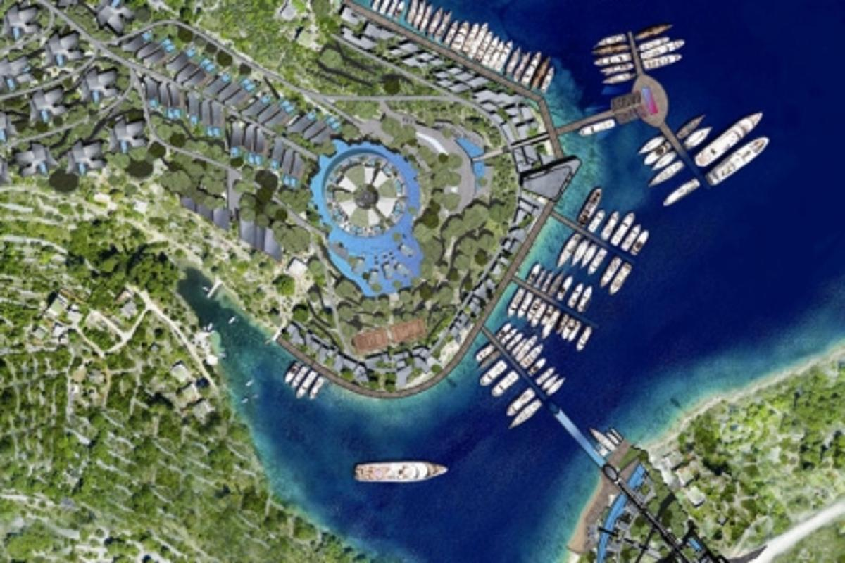 "The Šolta Island resort will comprise a rotating hotel that affords all guests an ocean view (when their ""turn"" comes)"