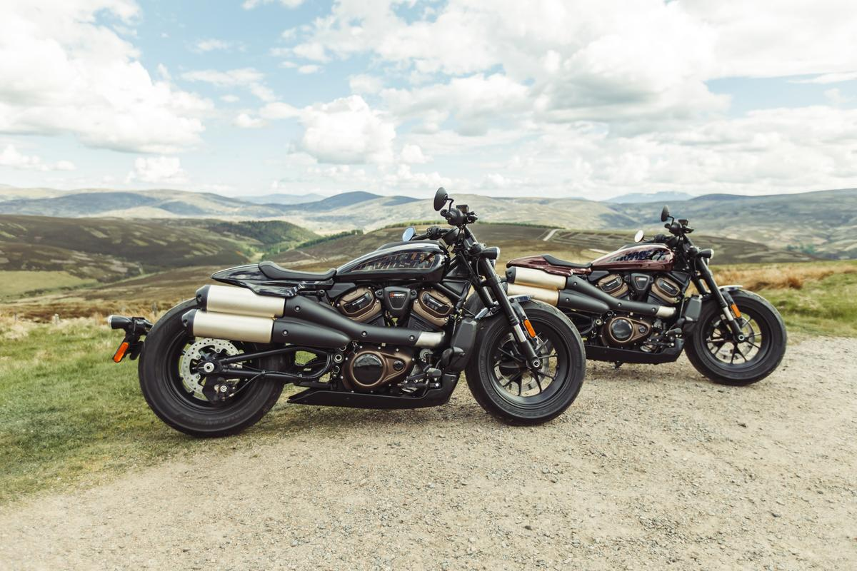 The 2022 Harley-Davidson Sportster S will be available in three colors; black, crimson and white