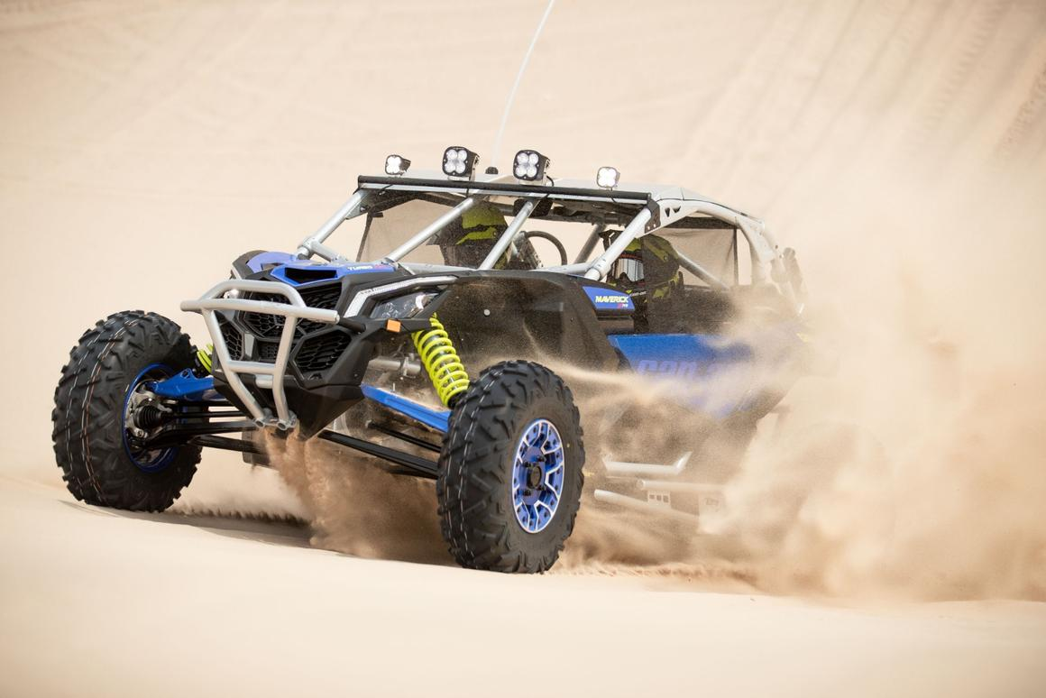 The new Maverick X3 X Turbo RR machines oughtta tear up a bit of sand with their 195 horses