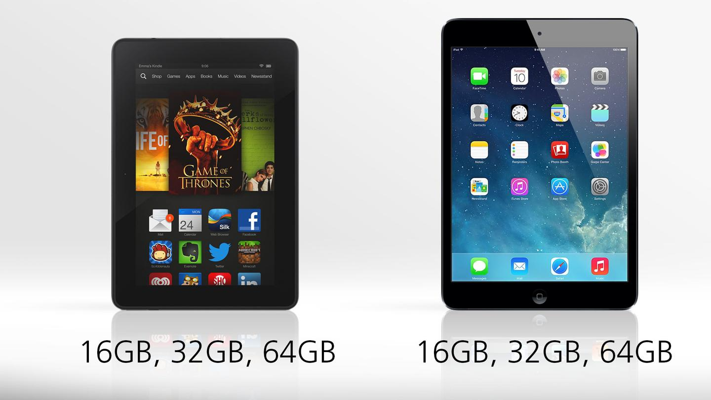 Kindle Fire HDX vs. iPad mini