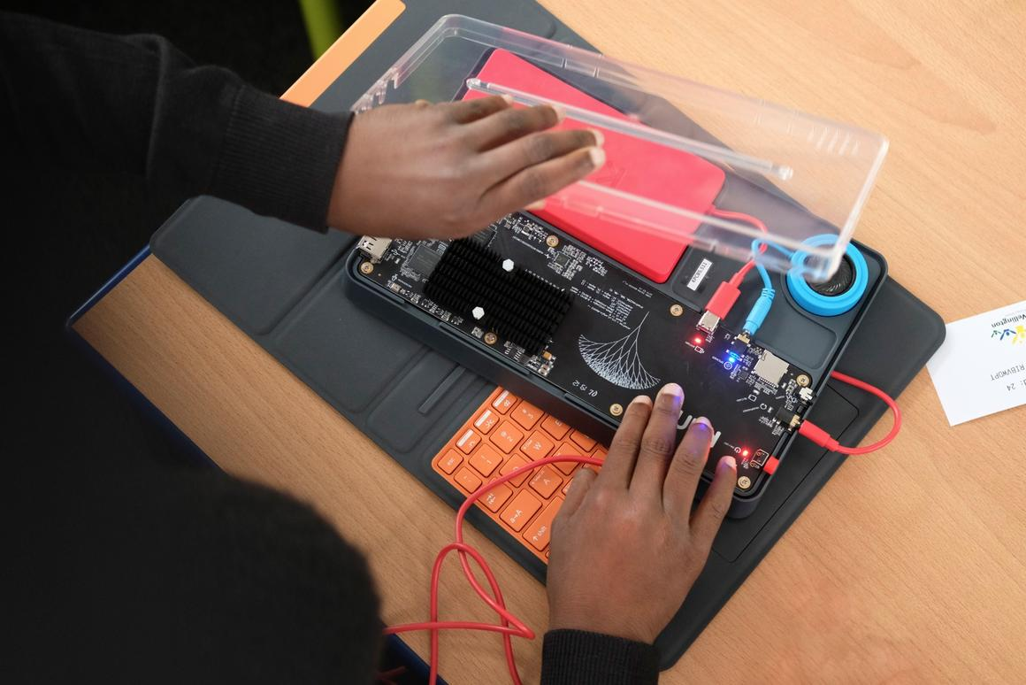 The Kano PC tasks students with building a tablet from a kit, and then learning to code and create