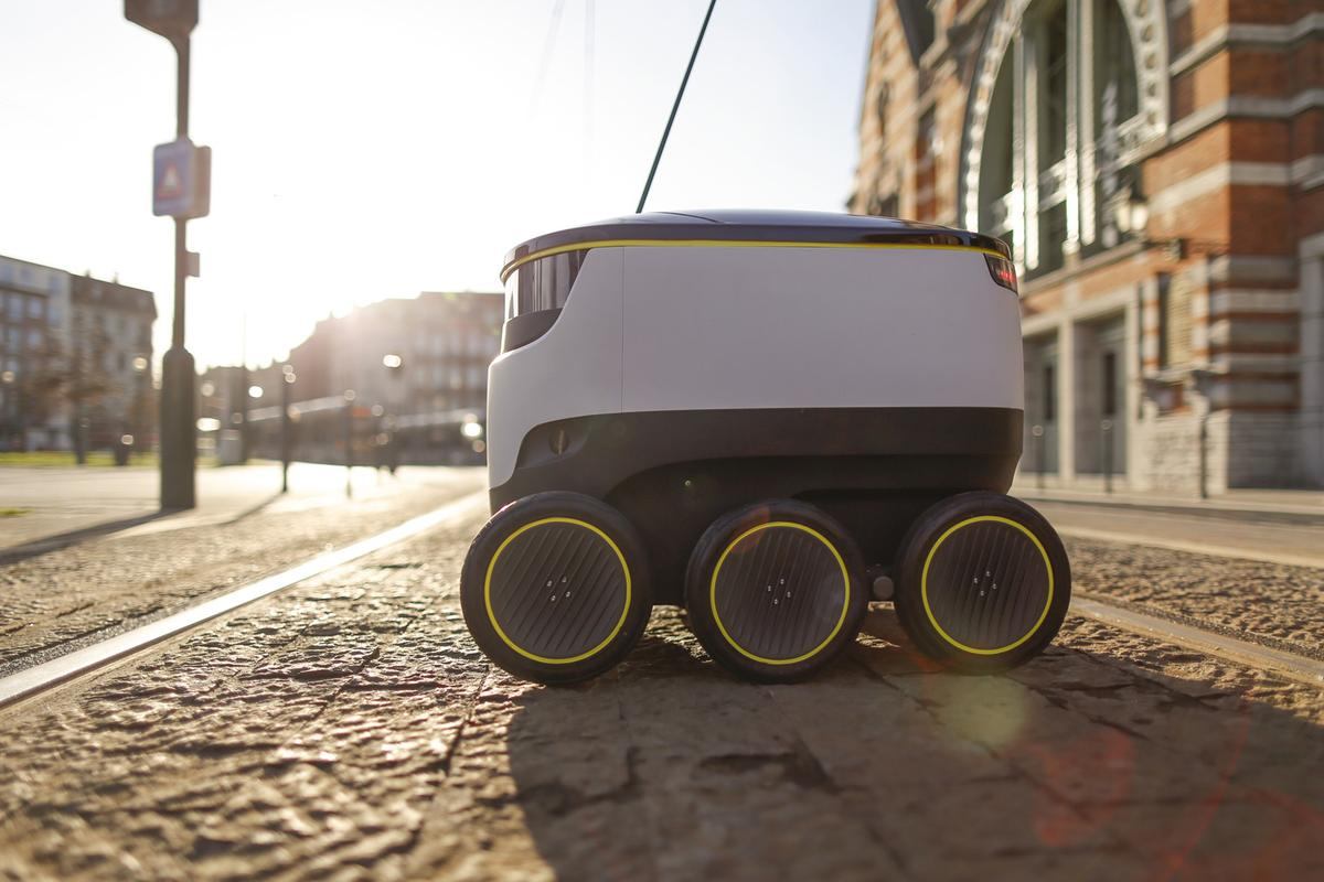 To begin with, the robots will be accompanied by a human as they complete the deliveries