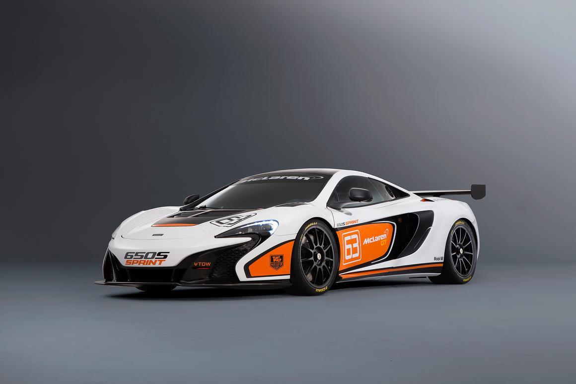 The McLaren 650S Sprint, a highly modified, track version of McLaren's 640 hp 650S, will debut at Pebble Breach