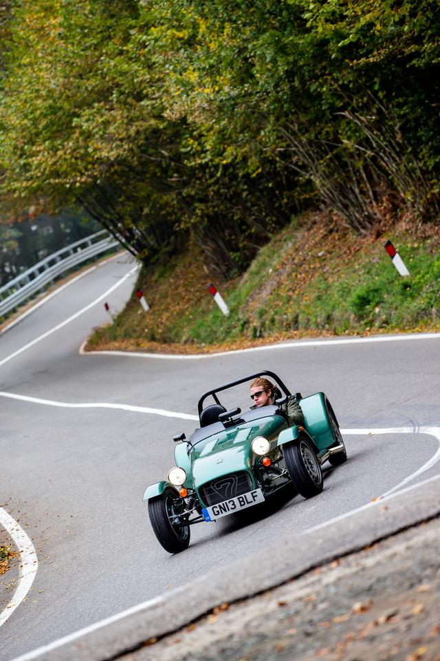 The new Caterham Seven 160 is designed to offer quick, lively driving at an affordable price