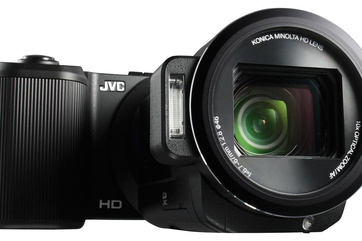 JVC says that its new GC-PX10 is neither a camera capable of recording video, or a camcorder able to take photographs - it's a true hybrid of both