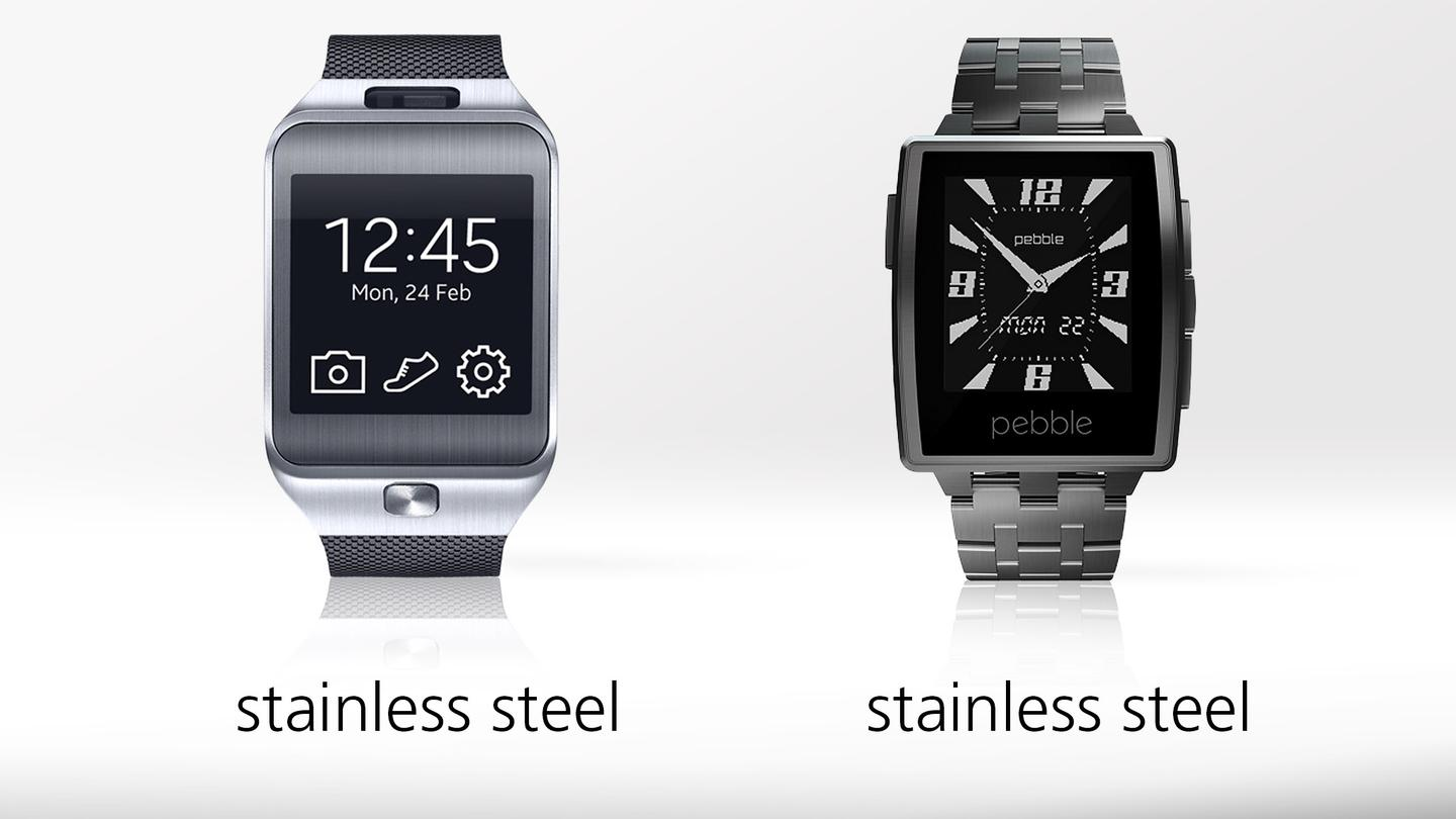 Both watches' main bodies are made of stainless steel