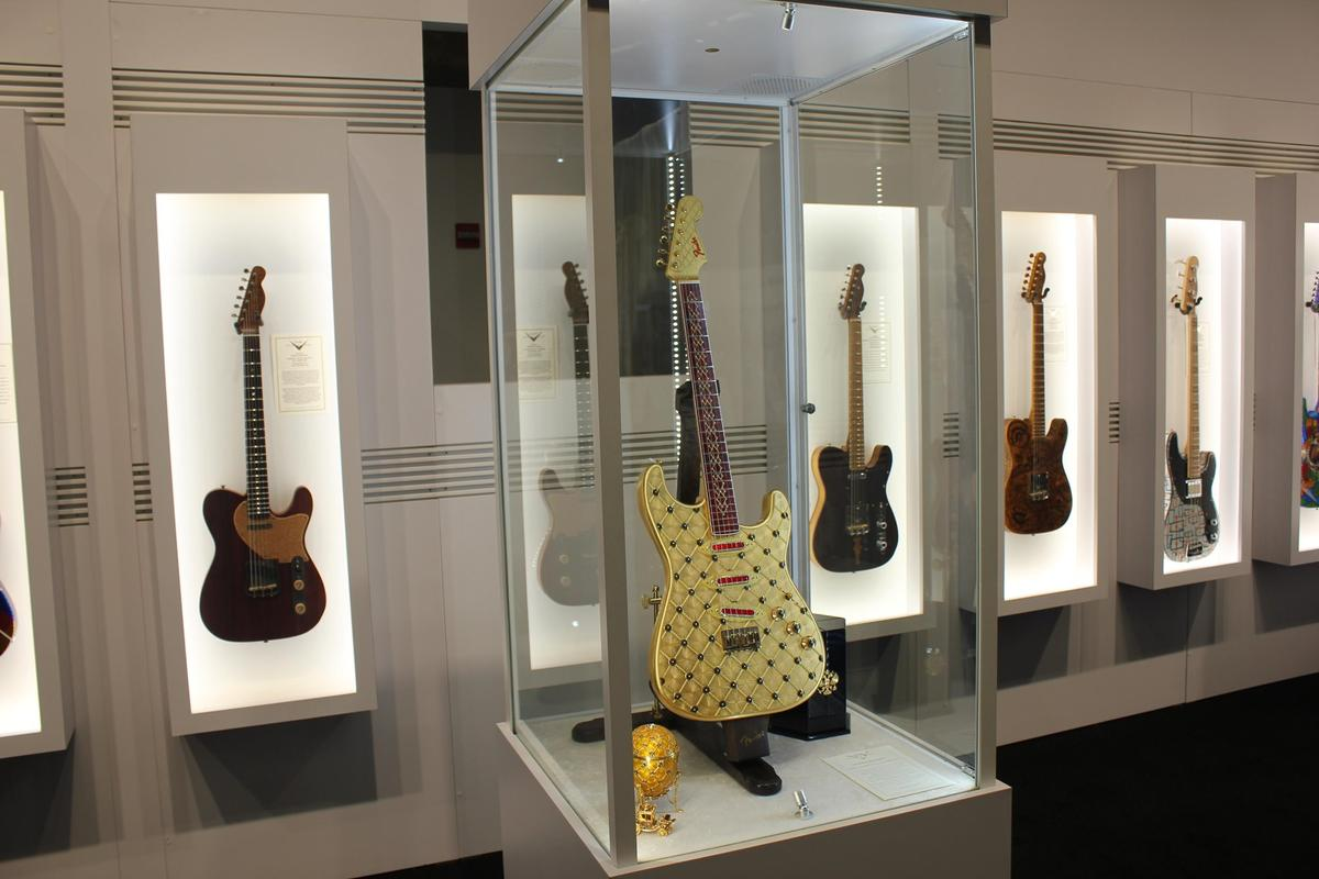 The Fender Custom Shop Coronation Stratocaster was inspired by the Fabergé Imperial Coronation Egg