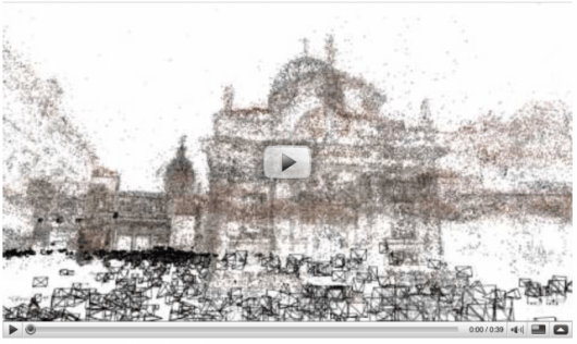 Landmarks and cities are recreated in 3-D using University of Washington's computer algorithm to collect and match hundreds of thousands of images from Flickr