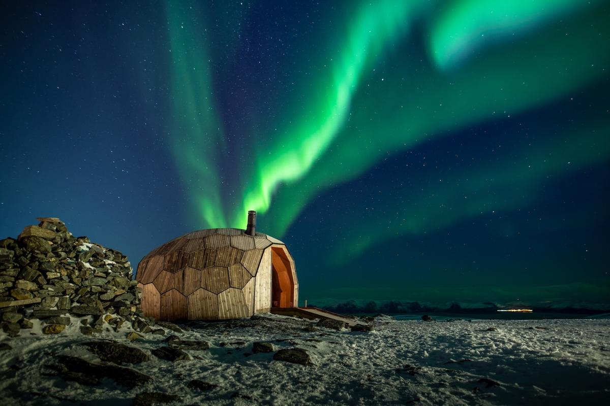 The Hammerfest Hiking Cabins project actually consists of two cabins, but the second is yet to be completed