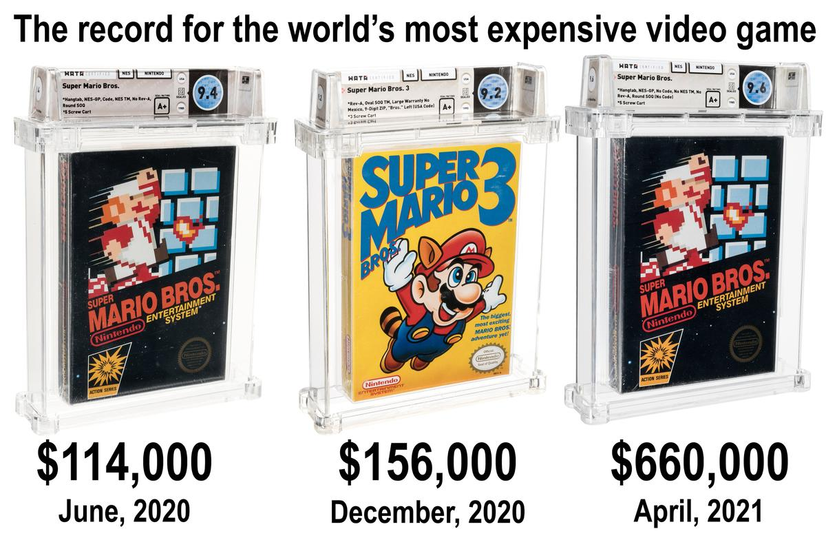 The emergence of the independent Wata-certified grading system for video games in 2019 supercharged the industry, and video games have been selling for record prices ever since