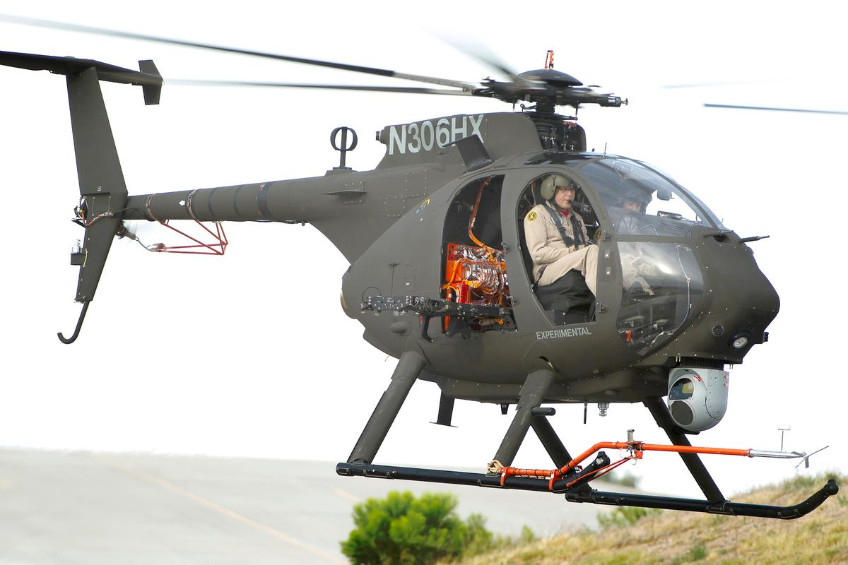 Boeing has tested its AH-6i light attack helicopter for the first time in its production configuration