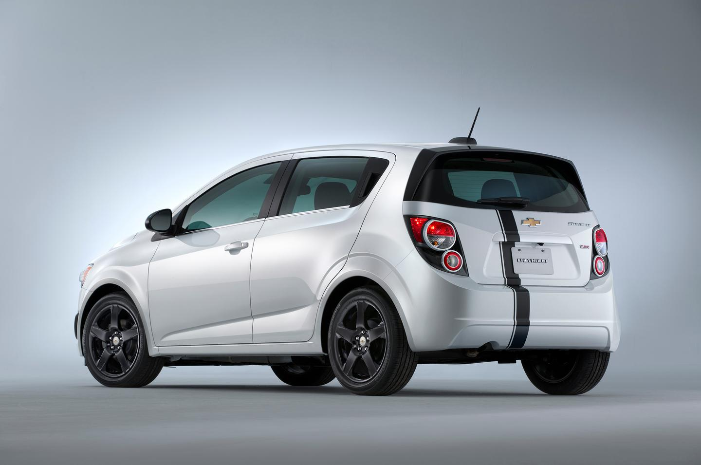 The Chevrolet Sonic Accessories Concept sits on lowered suspension