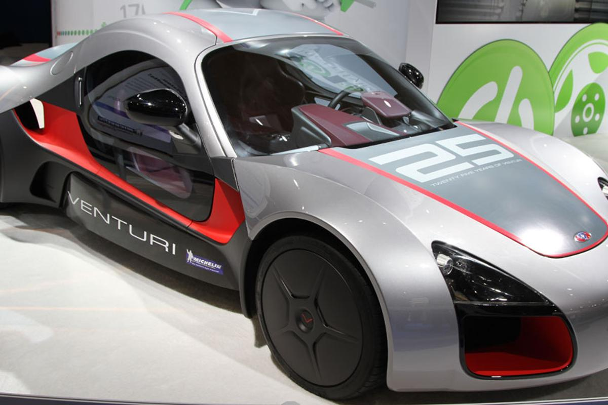 Venturi's Volage concept electric sportscar that features the Michelin Active Wheel System