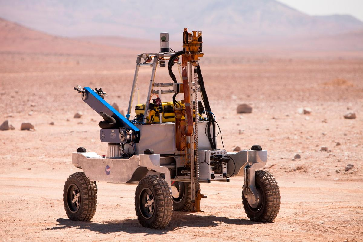 The team used a KREX-2 rover for its testing