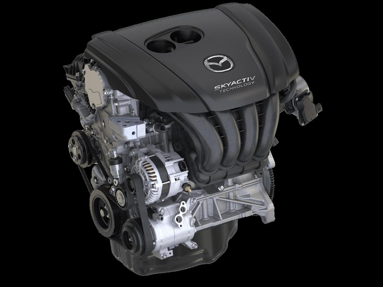 The 250 hp 2.5-liter SkyActiv-G turbocharged four-pot taken out of Mazda's CX-9