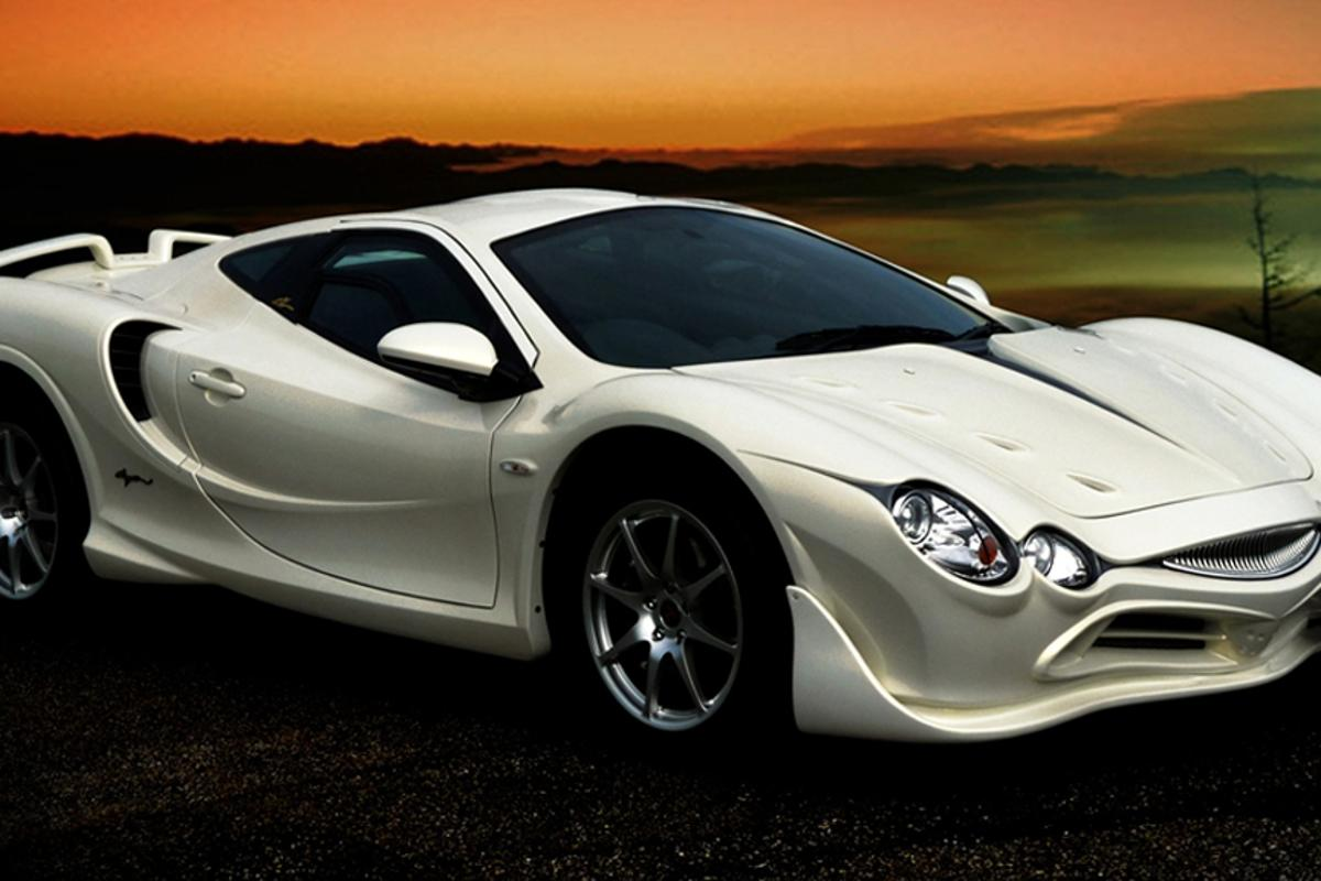 The distinctive lines of the Orochi Gold Premium sportscar from Mitsuoka Motors
