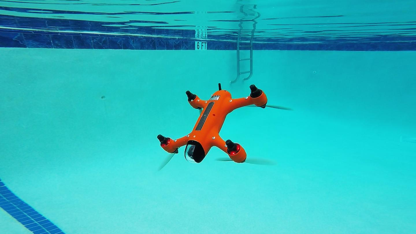 The Spry drone both flies through the air and goes underwater