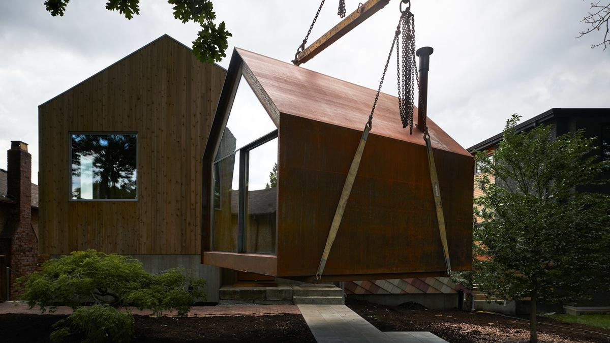 Powers Construction designed and built the Site Shack to serve as a cosy alternative to those shipping containers and portable trailers often used by project managers on building sites
